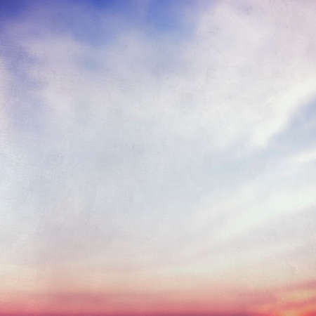 Blue and Pink Sky Background Natural Freshness Concept Imagens