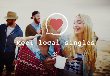 Meet Local Singles Dating Valantine Romance Heart Love Passion Concept