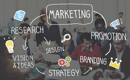 Marketing-Strategie Geschäftsinformationen Vision Target Concept Standard-Bild - 51791400