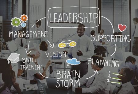authoritarian: Leadership Teamwork Management Support Strategy Concept Stock Photo