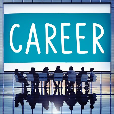 place of employment: Career Hiring Occupation Profession Job Concept