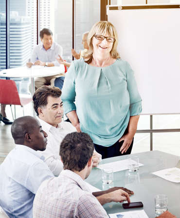team leadership: Business People Seminar Conference Working Leadership Concept Stock Photo