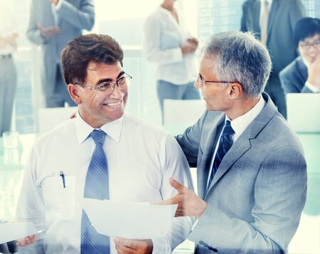 team leadership: Business People Meeting Discussion Corporate Team Concept Stock Photo