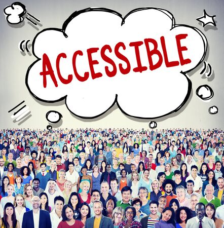 approachable: Accessible Approachable Access Enter Available Concept