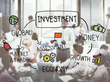 investment vision: Investment Vision Planning Financial Success Global Concept Stock Photo