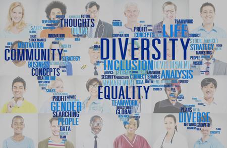 Concept diversité ethnique World Community mondial