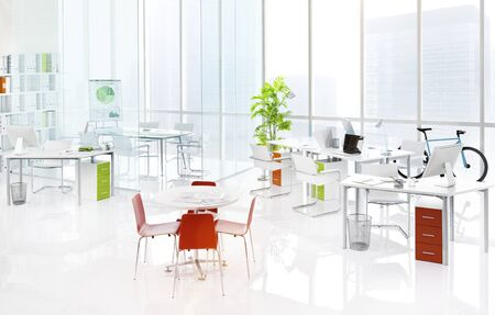 green office: Office Green Business Working Area Meeting Table Concept