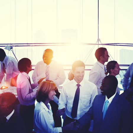 administracion de empresas: Los colegas de negocios La gente de la comunicación Concepto de Trabajo Foto de archivo