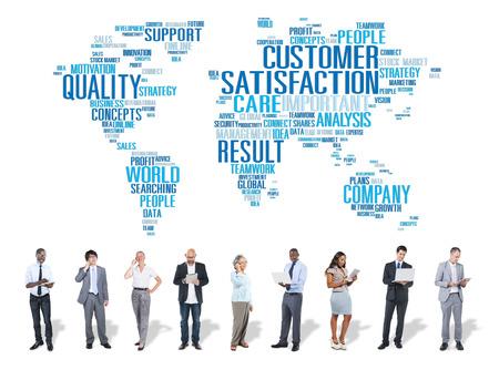 Klanttevredenheid Betrouwbaarheid Quality Service Concept