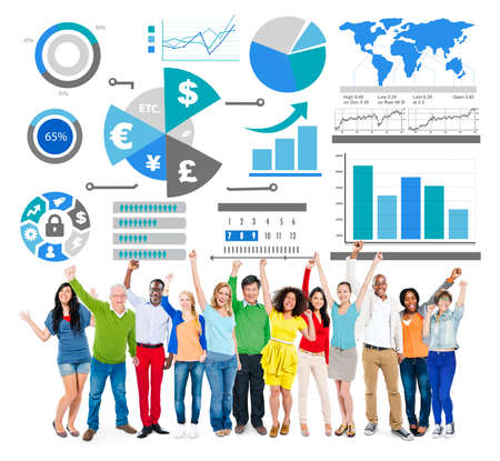 profit celebration: Finance Financial Business Economy Exchange Accounting Banking Concept Stock Photo