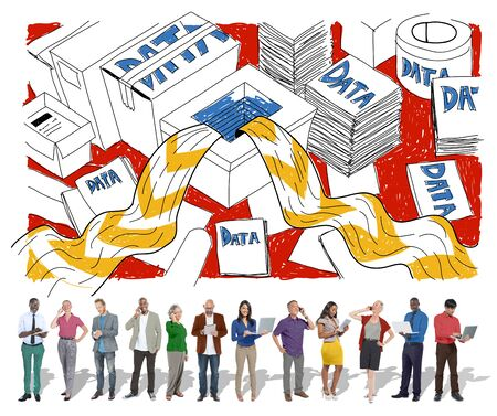 Data Information Overflow Excess Sketch Concept