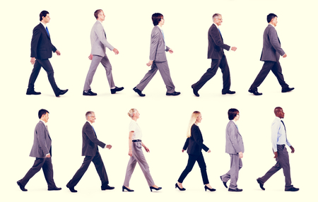 forward: Business People Travel Walking Movement Concept Stock Photo