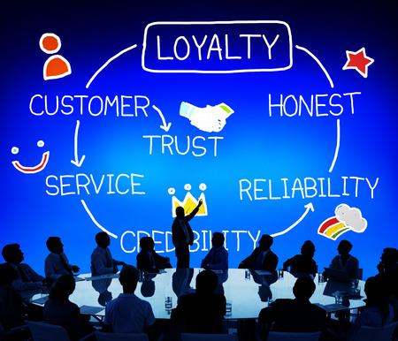 honest: Loyalty Customer Service Trust Honest Reliability Concept Stock Photo