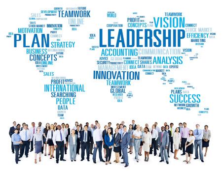 Führung Boss Management Coach Leiter Global Concept