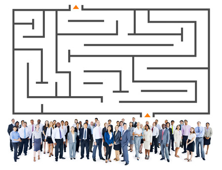 Business people with strategy concept Stock Photo