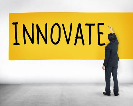 to innovate: Innovate Innovation Ideas Inspiration Invention Concept Stock Photo