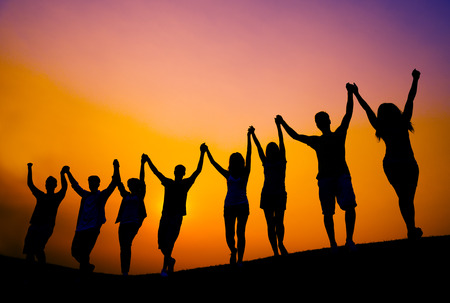 juventud: Celebraci�n �xito Alegre Acheivement Concepto