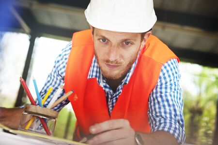architect drawing: Architect Engineer Working Planning Drawing Concept
