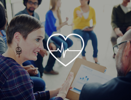 vital signs: Heartbeat Vida Salud Salud cardiograma Concepto