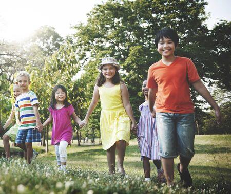 children play: Preschooler Children Play Recreation Friends Concept