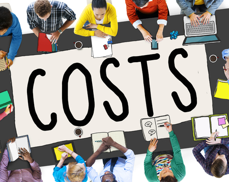 costs: Costs Accounting Financial Money Cash Concept