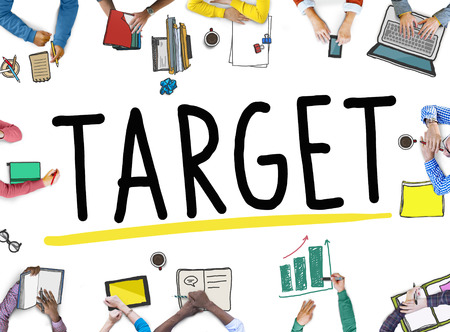 african descent: Target Aim Goal Marketing Mission Aspiration Concept Stock Photo