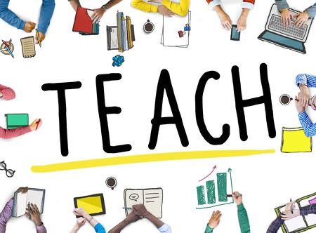 teach: Teach Workshop Skill Learning Solution Concept Stock Photo