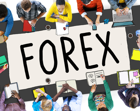 foreign exchange: Forex Foreign Exchange Financial Marketing Concept Stock Photo