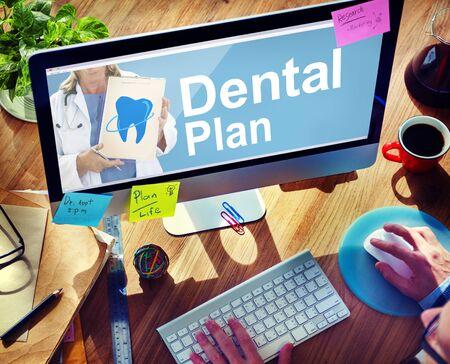de higiene: Plan de Beneficios dentales médico dentista higiene Concept