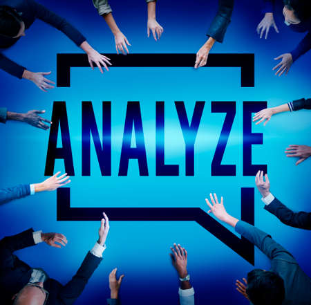 analyze: Analyze Evaluation Consideration Planning Strategy Concept Stock Photo