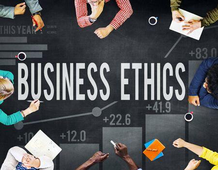 ethnics: Business Ethnics Philosophy Responsibility Honesty Concept Stock Photo