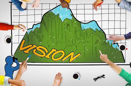 Vision Sight Goals Success Triumph Concept