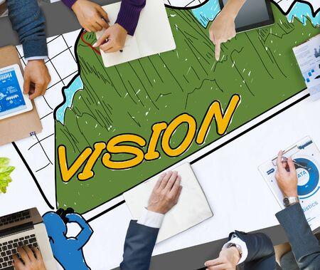 sight: Vision Sight Goals Success Triumph Concept