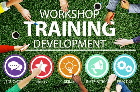 Concetto istruzione Workshop di formazione didattica per lo sviluppo