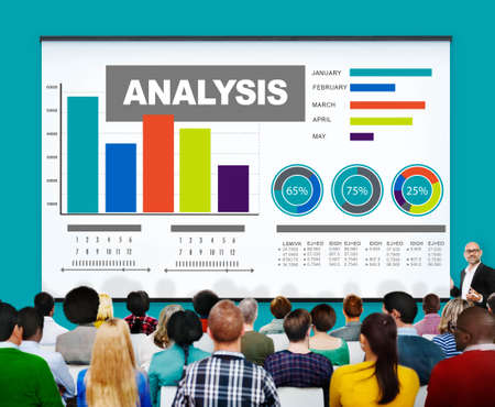 information analysis: Analysis Analytics Bar graph Chart Data Information Concept Stock Photo