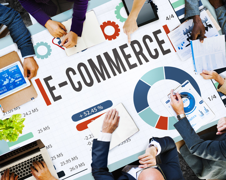 Business meeting with E-commerce concept