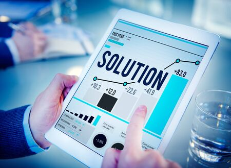breaking new ground: Solution Solve Strategy Success Improvement Concept