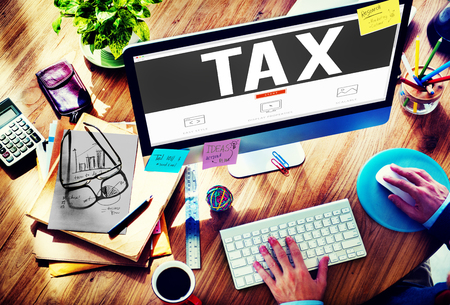 income tax: Tax Taxing Taxation Taxable Taxpayer Finance Concept Stock Photo