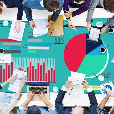 digital marketing: Digital Marketing Graph Statistics Analysis Finance Market Concept Stock Photo