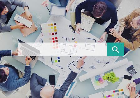 reuniones empresariales: Cuadro Buscar en la Web en l�nea Navegaci�n Concepto b�squeda