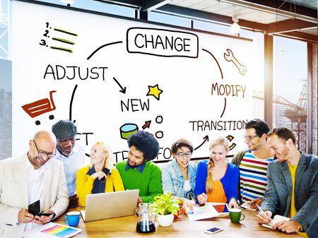 adjust: Change Improvement Development Adjust Transform Concept Stock Photo