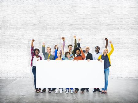 Groep Mensen Gemeenschap Succes Viering Concept Stockfoto