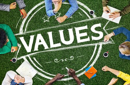 goodness: Values Goodness Worth Promotion Quality Concept Stock Photo