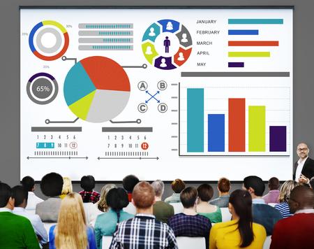 Gráfico de barras Gráfico Información de datos Informe informativo Concepto Foto de archivo - 51848686