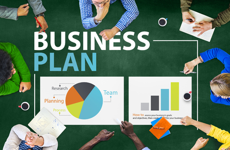 people development: Business Plan Planning Strategy Meeting Conference Seminar Concept Stock Photo