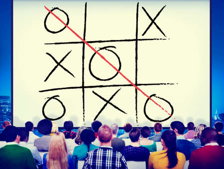 leisure game: Leisure Game Tic Tac Toe Competition Challenge Winner Concept Stock Photo