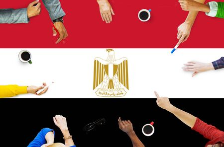 egypt flag: Egypt Flag Country Nationality Liberty Concept Stock Photo
