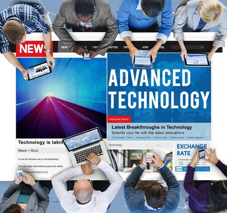 advanced technology: Advanced Technology Innovation Evolution Futuristic Concept Stock Photo