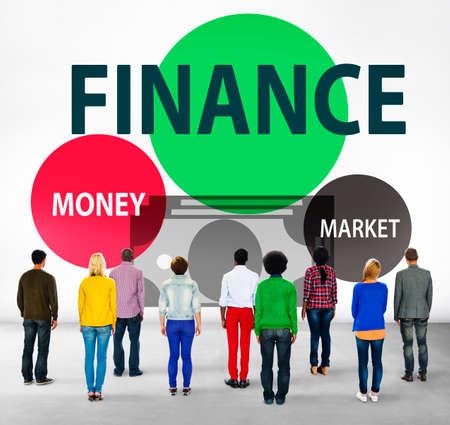 facing backwards: Finance Economy Money Market Financial Concept