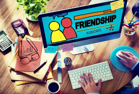 finding a mate: Friendship Group People Social Media Loyalty Concept